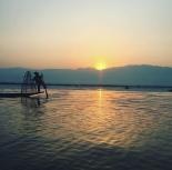 Early morning fisherman on Inle Lake Myanmar
